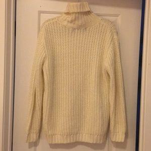 Another Night Cream Turtleneck Sweater
